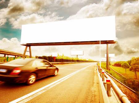 next horizon: Billboard on Country Road