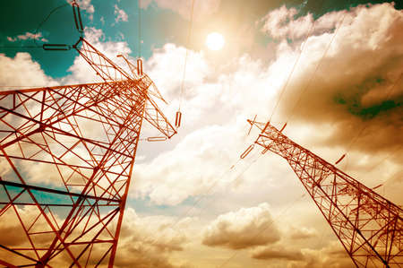 Power tower in the sky background Stock fotó - 13569966
