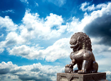 Chinese Imperial Lion Statue Stock Photo - 13569878