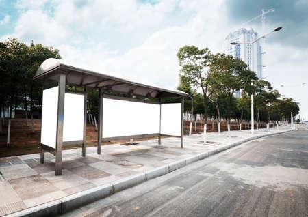 parada de autobus: Parada cartel en el escenario