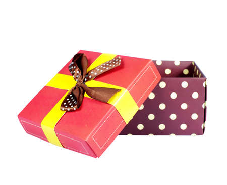 Gift box collection isolated over white photo