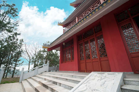Tengwang Pavilion,Nanchang,traditional, ancient Chinese architecture, made of wood.
