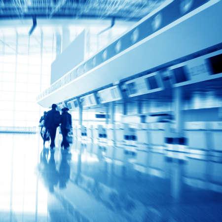 bewegung menschen: Passagier in Shanghai Pudong Flughafen Innenraum des Flughafens