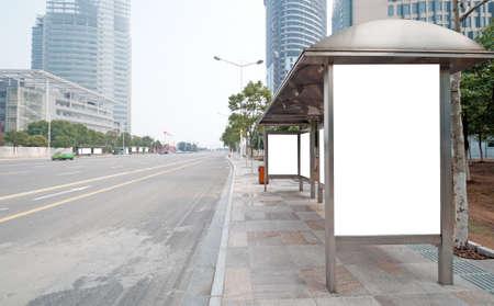 Arr�t de bus billboard sur sc�ne