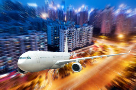 airplane window: the airplane away from the city,abstract background
