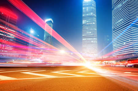 city by night: Shanghai Lujiazui Finance   Trade Zone modern city night background  Stock Photo