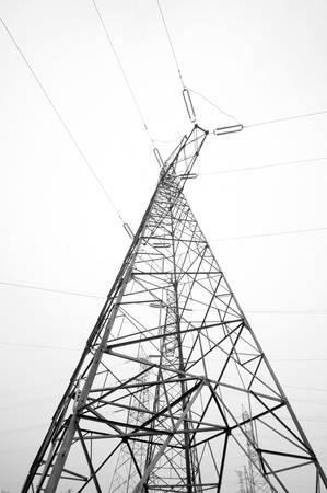 Electricity pylon isolated on white Stock Photo - 19533418