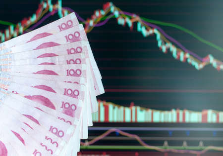 China stock market abstract  photo