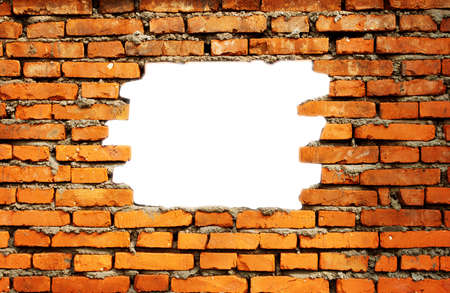 White Hole In Old Wall, Brick Frame Stock Photo, Picture And Royalty ...