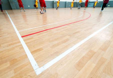 Wooden basketball court  Indoor sports playground
