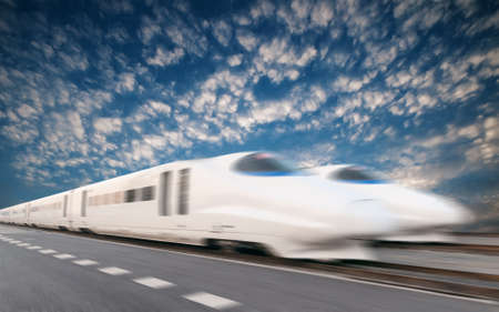 bullets: High Speed Train  Stock Photo