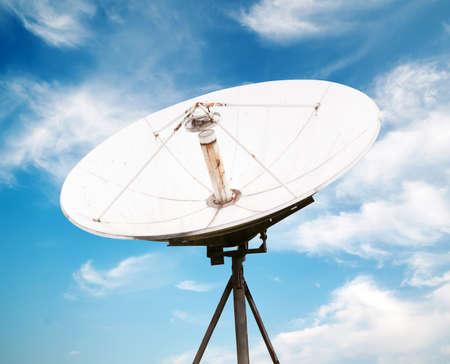 satellite dish antennas under sky photo