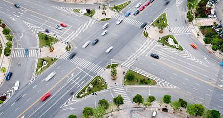 Stadsstraat verkeer