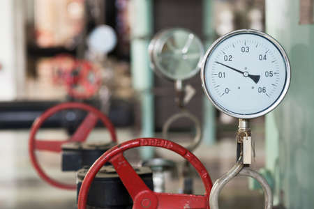 industrial thermometer in boiler room