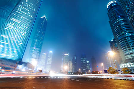 the night view of the lujiazui financial centre in shanghai china photo