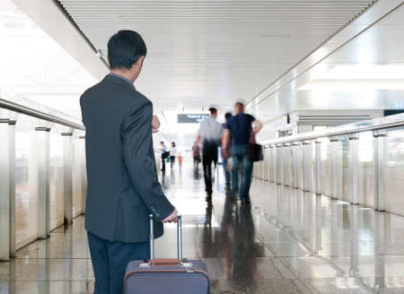 Business man at airport photo