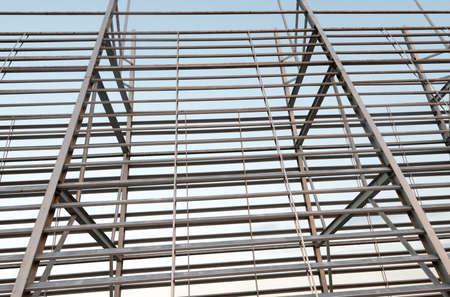 structural steel: Structural steel framework