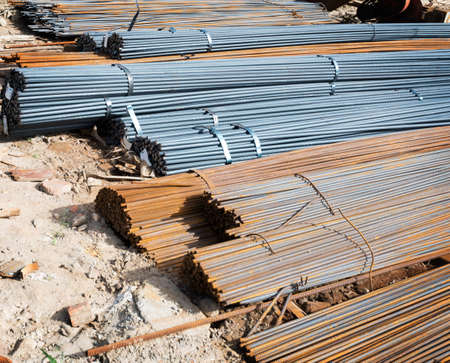 strenghten: Steel rods or bars used to reinforce concrete