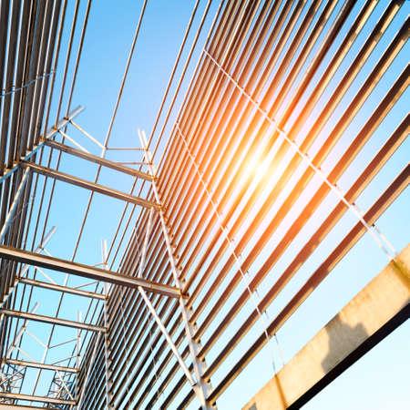 steelwork: Structural steel framework