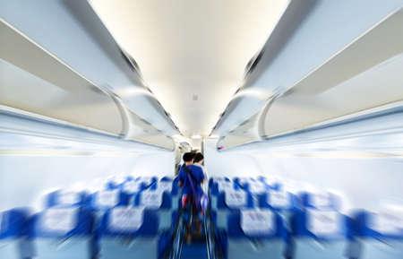 Commercial aircraft interior Stock fotó