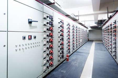 Distributie van elektrische energie onderstation in een energiecentrale.