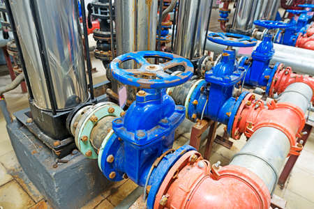 pressure pump for running water in a building photo
