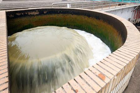 Modern urban wastewater treatment plant Stock Photo - 23924690