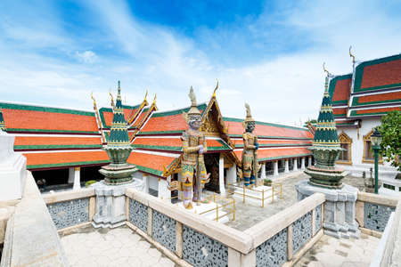 A golden pagoda, Grand Palace, Bangkok, Thailand photo