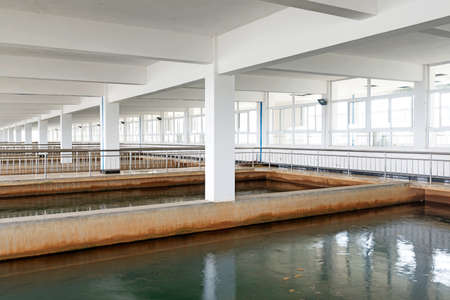 Modern urban wastewater treatment plant Stock Photo - 23892107