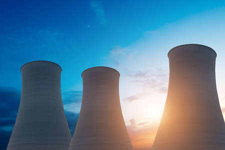 nuclear energy: Nuclear energy power plant Stock Photo