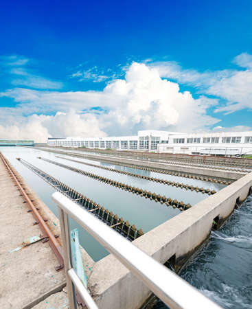 Modern urban wastewater treatment plant Banco de Imagens - 36109849