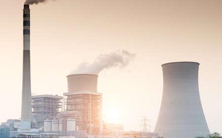 Nuclear energy power plant photo