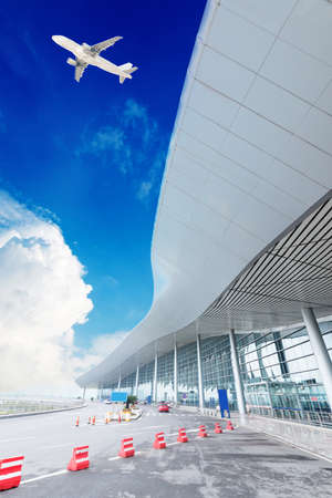 the scene of T3 airport building in beijing china.interior of the airport. photo