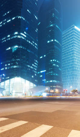 the night view of the lujiazui financial centre in shanghai china Stock Photo - 25189938