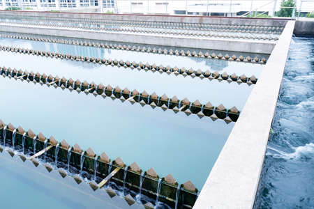 recycling plant: Modern urban wastewater treatment plant