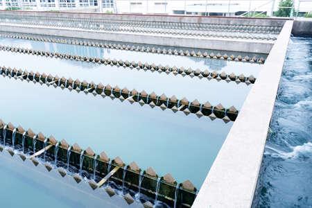 depuradoras: Planta de tratamiento de aguas residuales urbanas Moderno Foto de archivo