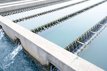 water purification plant: Modern urban wastewater treatment plant