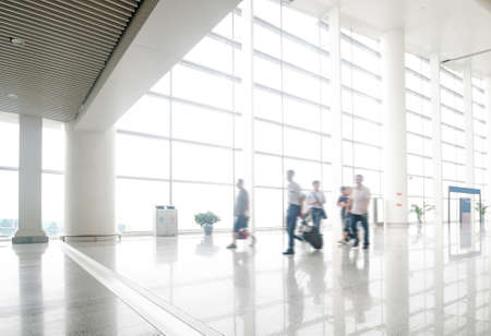 passenger in the shanghai pudong airport.interior of the airport. Stock fotó - 27521883