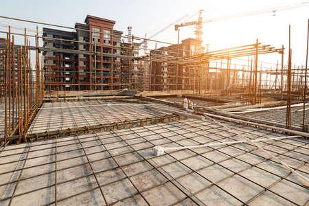 estructura: Estructura de techo, construcción de iones Foto de archivo