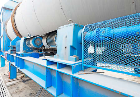 Oil and gas processing plant with pipe line valves Stock fotó