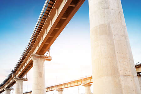 High overpass on the sky background photo