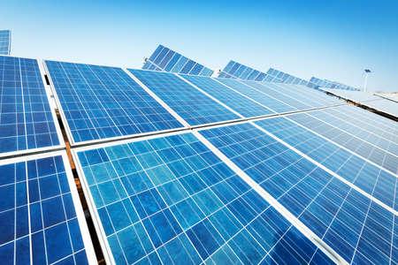 Solar panels against blue sky Stock fotó - 30294578