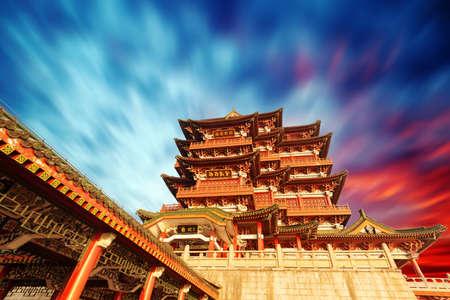 Tengwang Pavilion,Nanchang,t raditional, ancient Chinese architecture, made of wood. photo