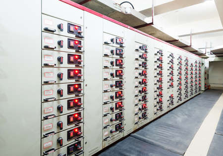 Electrical energy distribution substation in a power plant. Editoriali
