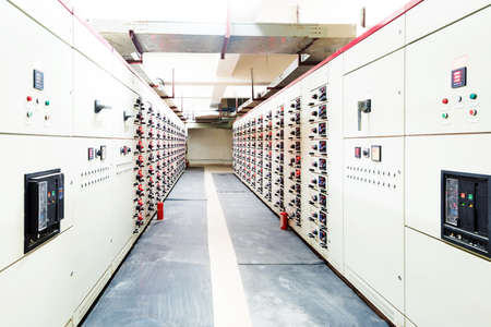 Electrical energy distribution substation in a power plant. Stock fotó - 32967352
