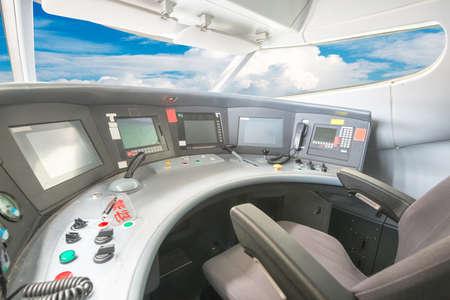 plane cockpit photo