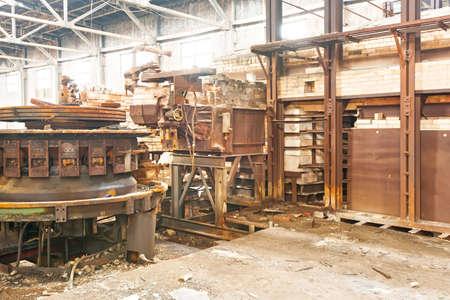 Old abandoned factory photo