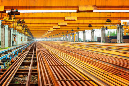 fusing: Steel pipes on the rack Stock Photo