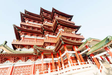 Tengwang Pavilion,Nanchang,t raditional, ancient Chinese architecture, made of wood