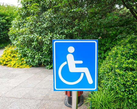 using wheelchair ramp(Barrier-free access) photo